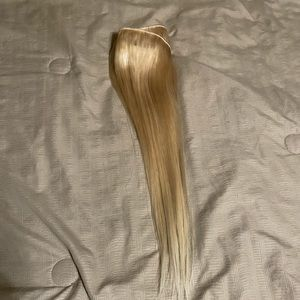 New blonde human hair wefts